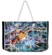Junco On Icy Branch - Digital Paint II Weekender Tote Bag