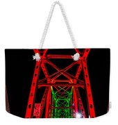 Junction Bridge - Red Weekender Tote Bag