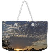 June Sunrise From The Series The Imprint Of Man In Nature Weekender Tote Bag