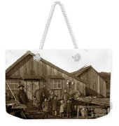 Jung San Choy And Chinese Family Pescadero Village Pebble Beach California Circa 1895 Weekender Tote Bag