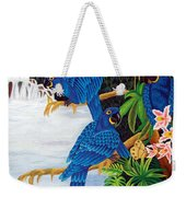 Jungle Chats Hand Embroidery Weekender Tote Bag