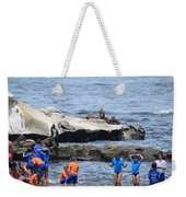 Junior Lifeguards And Sea Lions Weekender Tote Bag