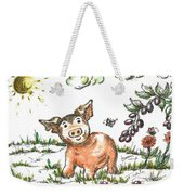 Junior Pig Weekender Tote Bag