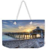 Juno Beach Pier At Dawn Weekender Tote Bag