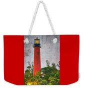 Jupiter Lighthouse Weekender Tote Bag by Debra and Dave Vanderlaan