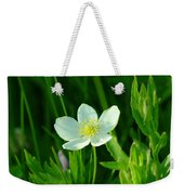 Just A Little White And Yellow Blossom Weekender Tote Bag
