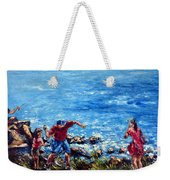 Just A Pebble In The Water Weekender Tote Bag