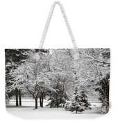 Just After A Snowfall Weekender Tote Bag by Mary Machare