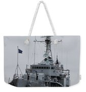 Just Another Battleship Photo Of The Uss Joseph P Kennedy Jr  Weekender Tote Bag