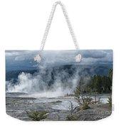 Just Before The Storm - Mammoth Hot Springs Weekender Tote Bag