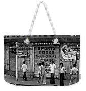 Just Buddies Bw Weekender Tote Bag