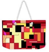 Just Colors And Lines Red Weekender Tote Bag