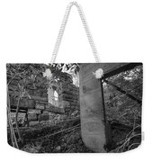 Just Left There Jerome Black And White Weekender Tote Bag