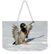 Just Like Skiing Weekender Tote Bag
