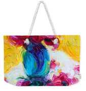 Just Past Bloom - Roses Still Life Weekender Tote Bag by Talya Johnson