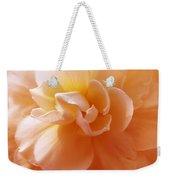 Just Peachy Begonia Flower Weekender Tote Bag