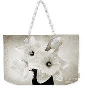 Just Plain Daffy 1 B W - Flora - Spring - Daffodil - Narcissus - Jonquil Weekender Tote Bag