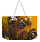 Just Sayin Bison Weekender Tote Bag