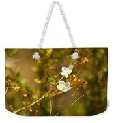 Just Two Little White Flowers Weekender Tote Bag