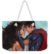 Justice League Weekender Tote Bag by Leida Nogueira