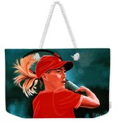 Justine Henin  Weekender Tote Bag by Paul Meijering