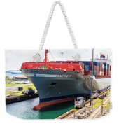 Kaethe P Container Ship Panama Canal Weekender Tote Bag