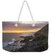 Kaena Point Sea Arch Sunset - Oahu Hawaii Weekender Tote Bag
