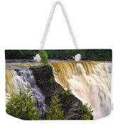 Kakabeka Falls On The Kaministiquia River Weekender Tote Bag