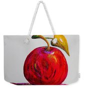 Kaleidoscope Apple -- Or -- Apple For The Teacher  Weekender Tote Bag by Eloise Schneider