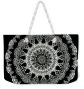 Kaleidoscope Ernst Haeckl Sea Life Series Black And White Set 2 Weekender Tote Bag