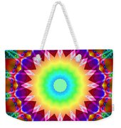 Kaleidoscope Rainbow Weekender Tote Bag