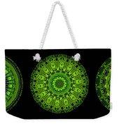 Kaleidoscope Triptych Of Glowing Circuit Boards Weekender Tote Bag