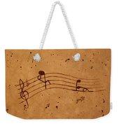 Kamasutra Abstract Music 2 Coffee Painting Weekender Tote Bag