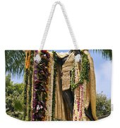 Kamehameha Covered In Leis Weekender Tote Bag