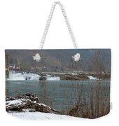 Kanawha Falls - Winter Weekender Tote Bag