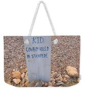 Kansa Kid Killed In A Stampede Weekender Tote Bag