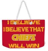Kansas City Chiefs I Believe Weekender Tote Bag