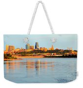 Kansas City Downtown From Kaw Point Weekender Tote Bag