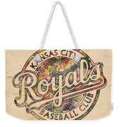Kansas City Royals Logo Vintage Weekender Tote Bag