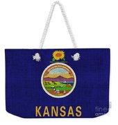 Kansas State Flag Weekender Tote Bag