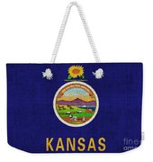 Kansas State Flag Weekender Tote Bag by Pixel Chimp