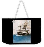 Karis Trawl Fishing Boat Nautical Chart Art Weekender Tote Bag