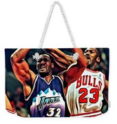 Karl Malone Vs. Michael Jordan Weekender Tote Bag