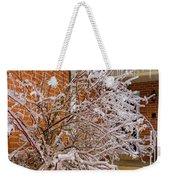 Karma In Winter Weekender Tote Bag