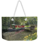 Kathleen May Chesterfield Canal Nottinghamshire Weekender Tote Bag