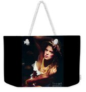 Katie White Hat Weekender Tote Bag