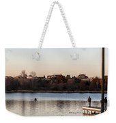 Kayak At Sunset Weekender Tote Bag