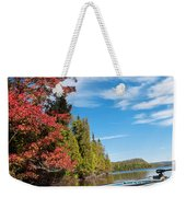 Kayak Boat During Sunny Day  Weekender Tote Bag