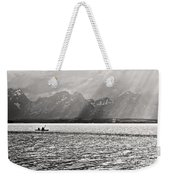 Kayakers On Jackson Lake Weekender Tote Bag