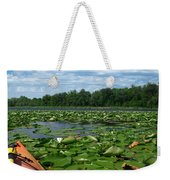 Kayaking Among The Waterlillies Weekender Tote Bag